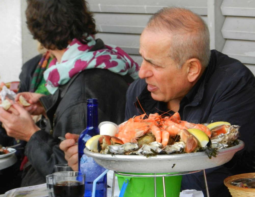 Seafood platter in Marche des Capucins