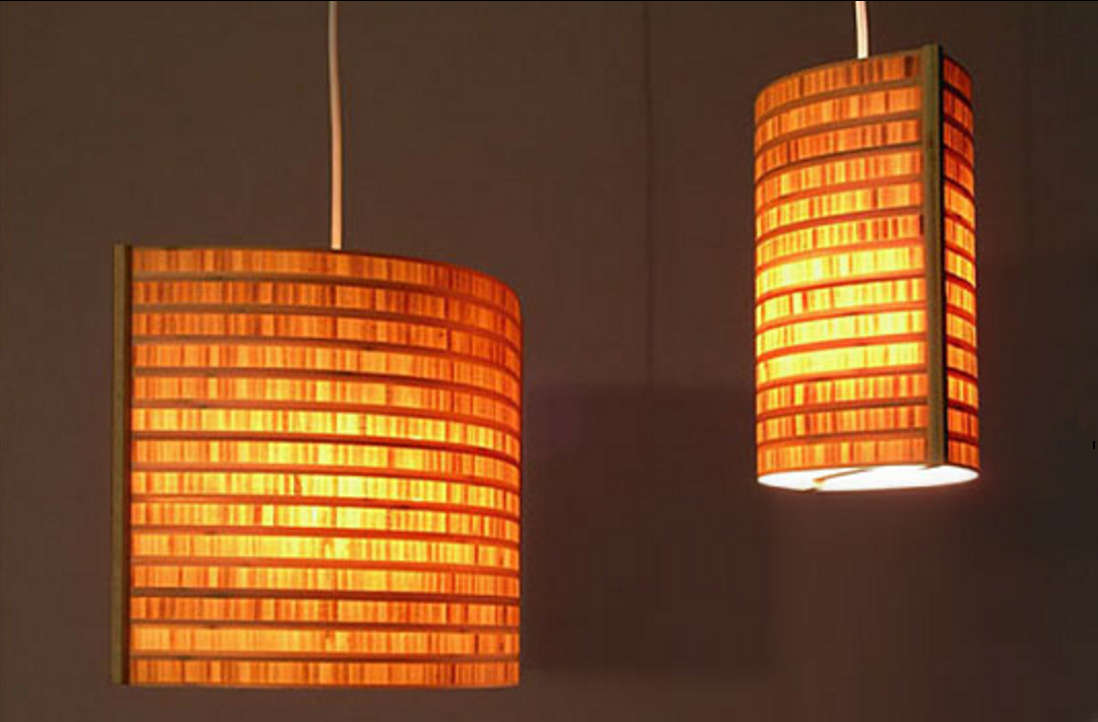 Bamboo pendant light fixture