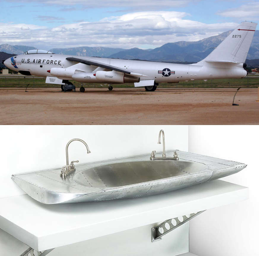 Sink made from aerial tanker part