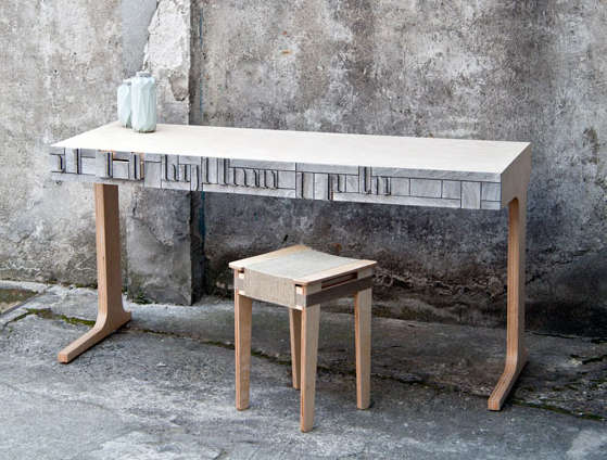 Furniture made with NewspaperWood.