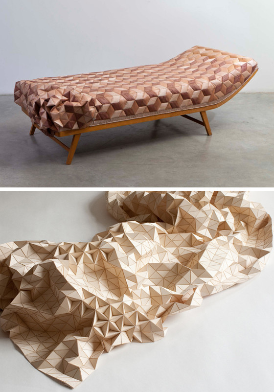 Wood veneer covered textiles