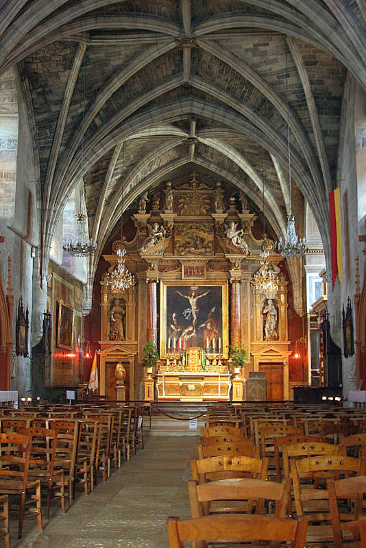 Interior view of Saint Martin Church