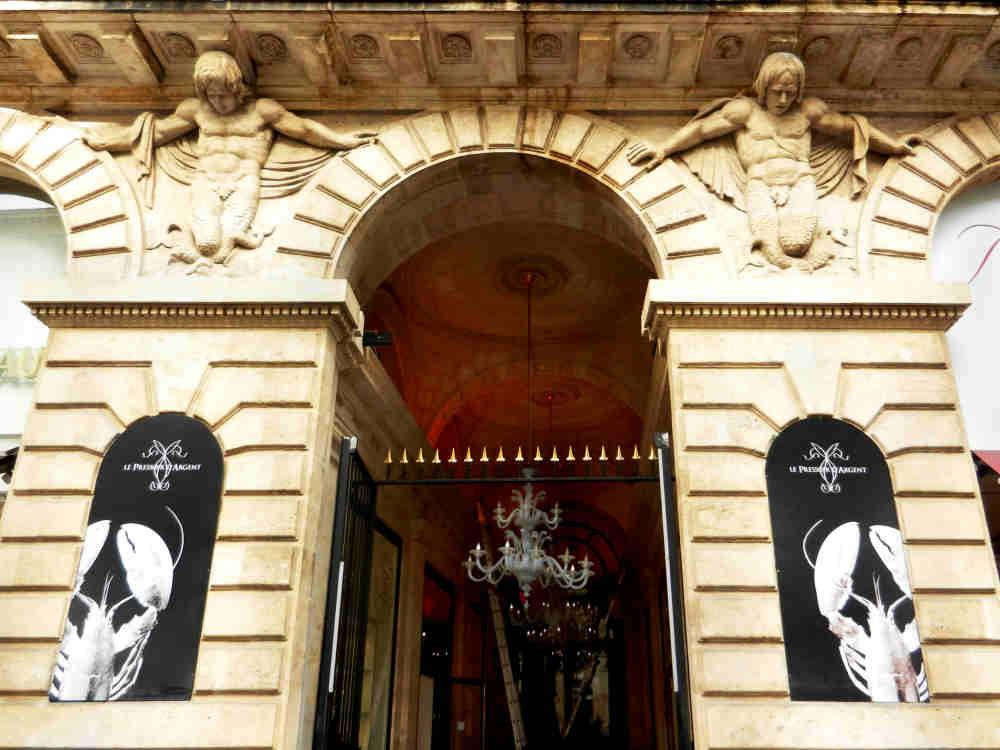 Entry to Le Pressoir d'Argent in the 18th Century Grand Hotel de Bordeaux.