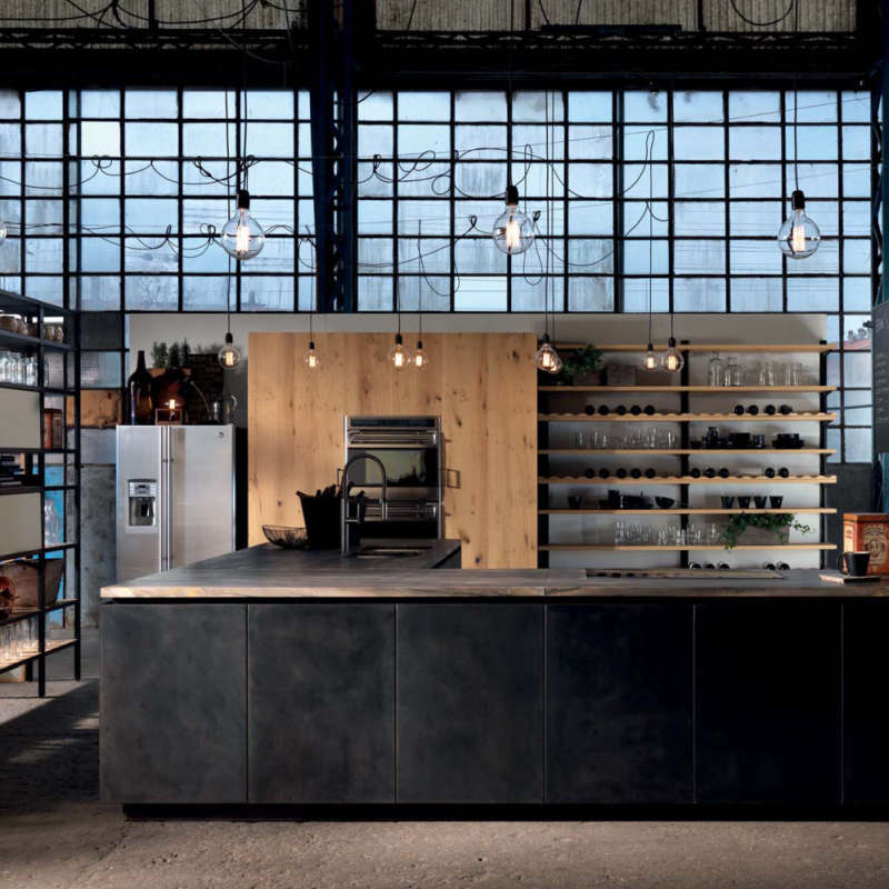A kitchen that embodies the startup ethos of the Silicon Valley.
