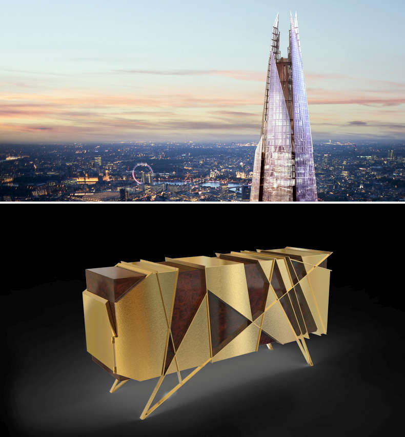 Sideboard inspired by London landmark The Shard
