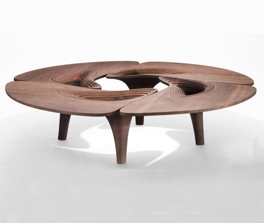 4-piece curvilinear coffee table