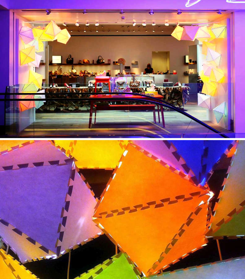 Lanterns of colored biodegradable paper