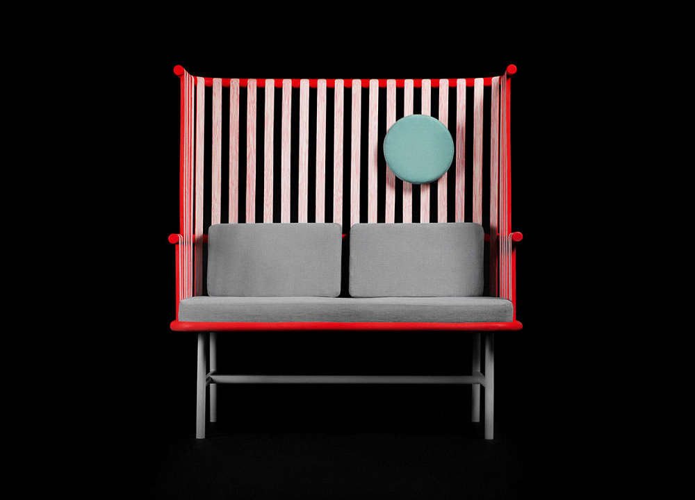 2-seater bench made from a highly renewable source – rattan.