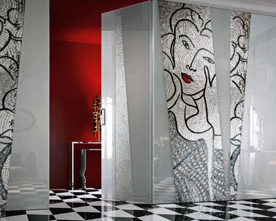 Glass encased decorative wall panels