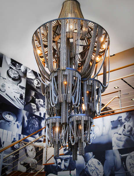 Chandelier made from bike chains