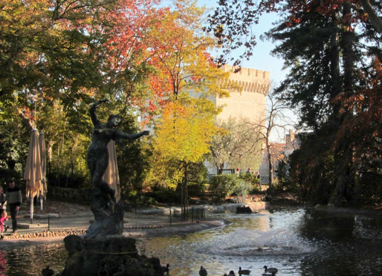 Statue of Venus with Swallows in the Jardin du Rocher des Doms
