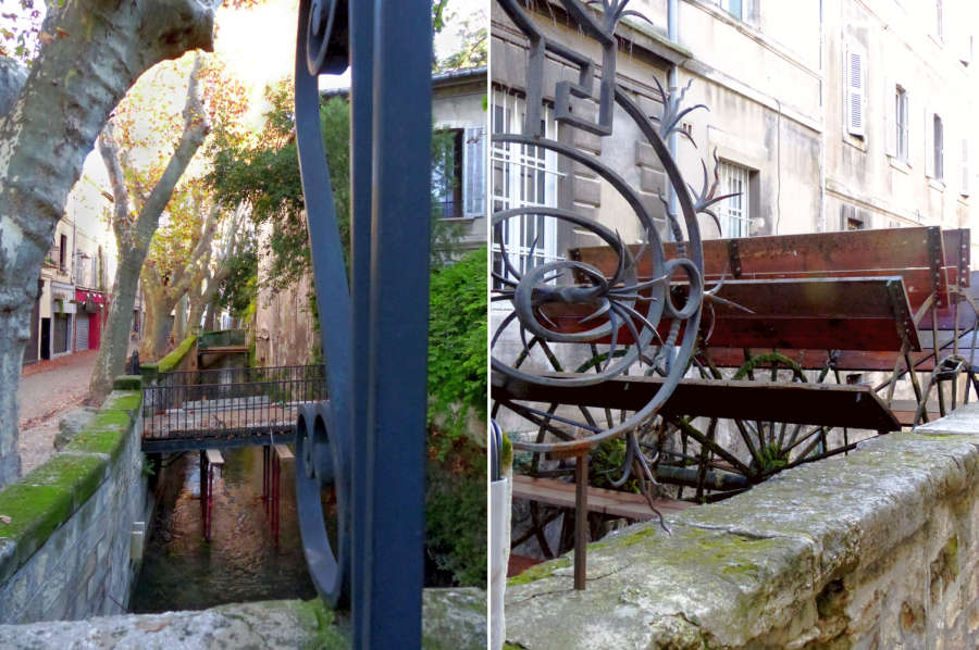 Avignon also has water wheels and canals with water from the Sorgue