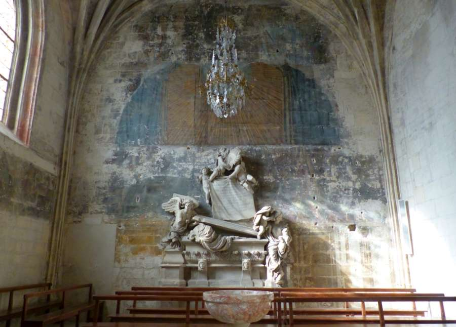 Wall painting in side chapel of the Church of St-Trophime