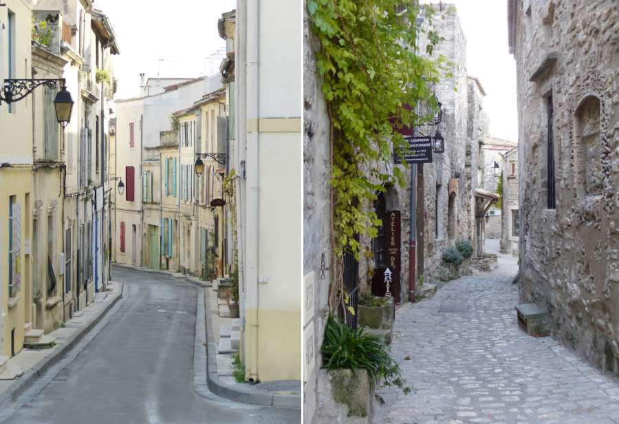 Picture to show differences in the architecture between Arles and Les Baux