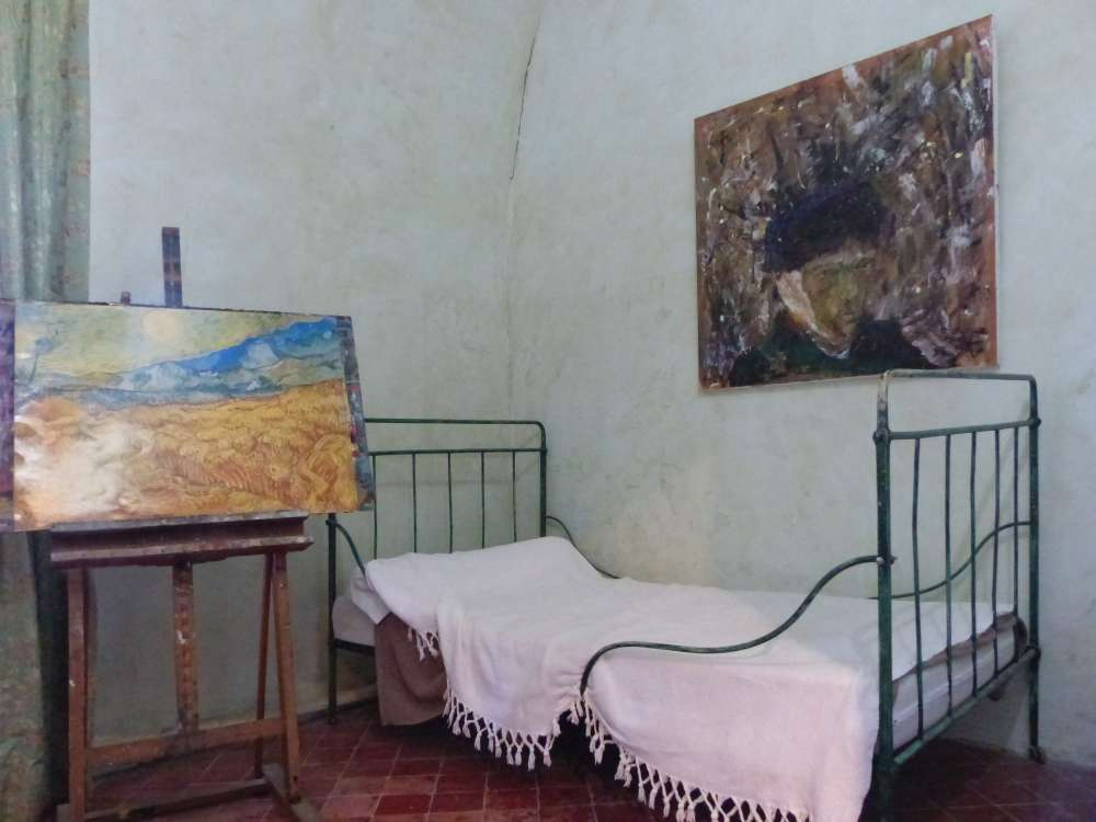Van Gogh's spartan bedroom at Saint-Paul-de-Mausole
