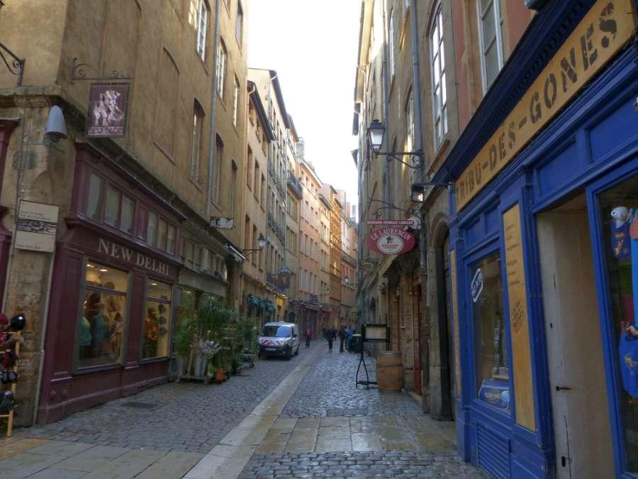 Street in Vieux Lyon (Old Lyon)