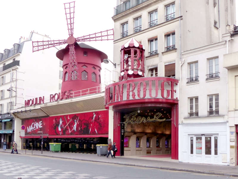 The famous cabaret landmark Moulin Rouge