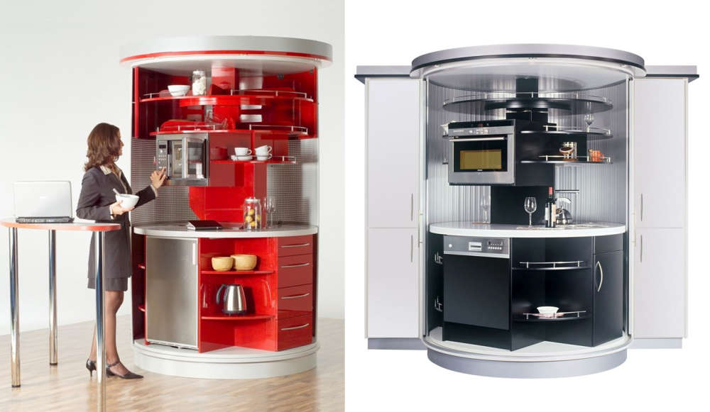 Circular shaped capsule kitchens