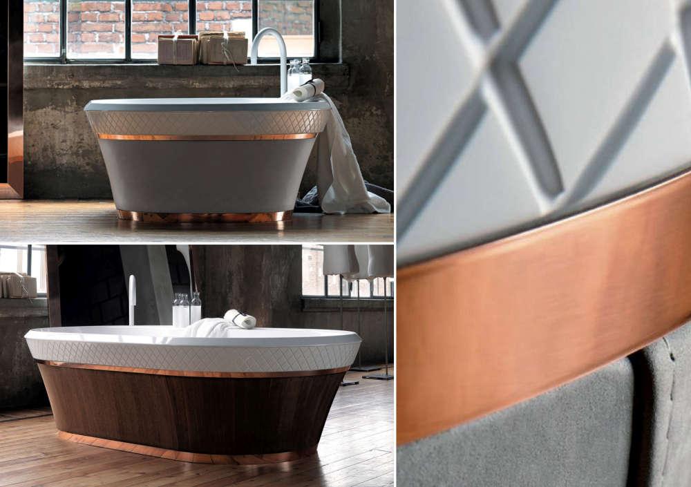 Unabashedly masculine bath tub for men with discerning taste.