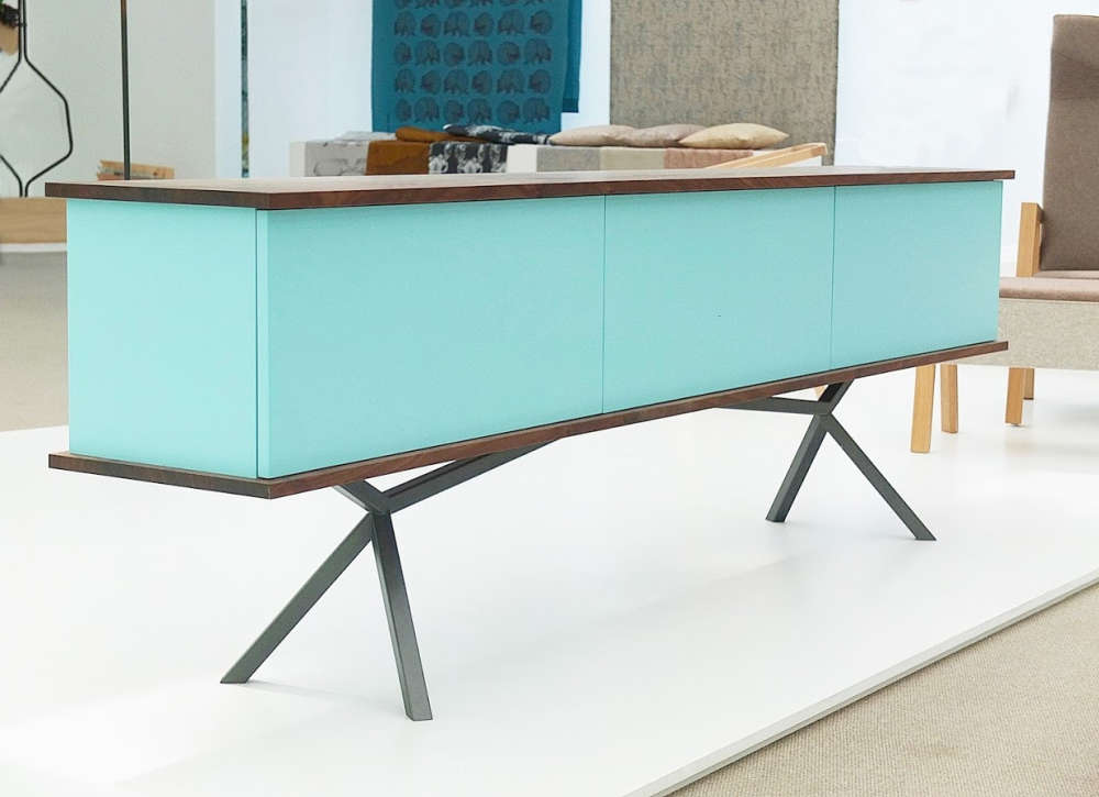 A sideboard with mid-century modern bent.