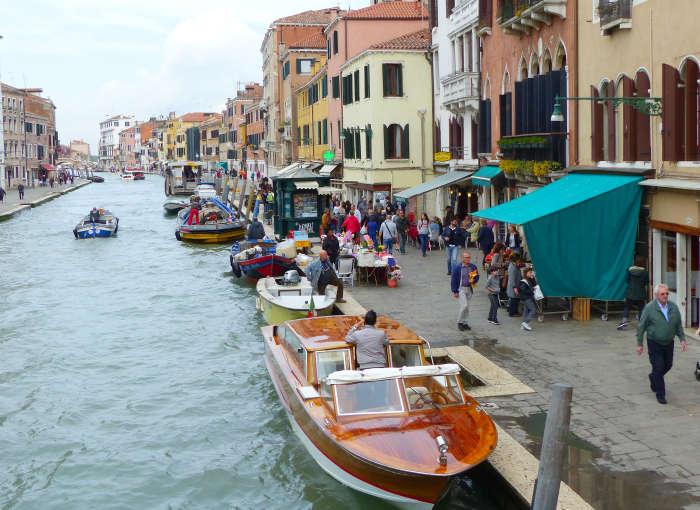 Bustling Fondamenta Cannaregio on the waterfront