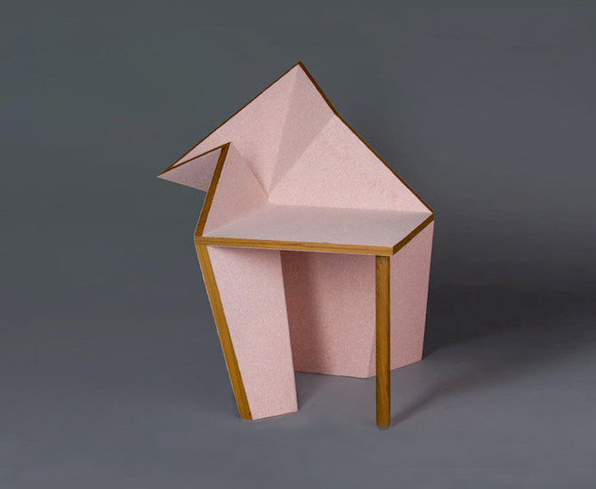 A chair inspired by origami