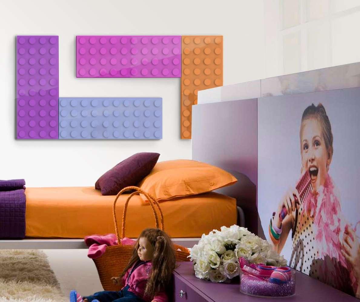 Lego inspired wall heater