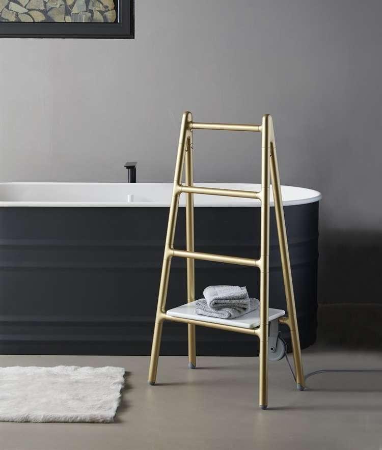 Towel heater looking like a step ladder