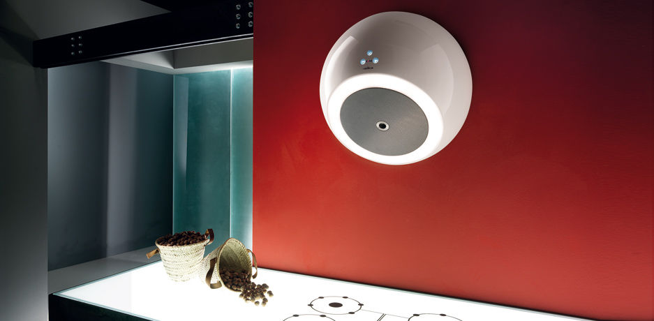 A spherical range hood by Elica