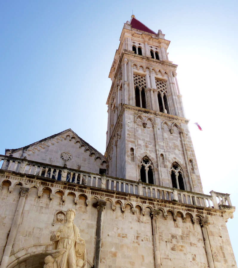 Bell Tower of St Lawrence Cathedral in Trogir.