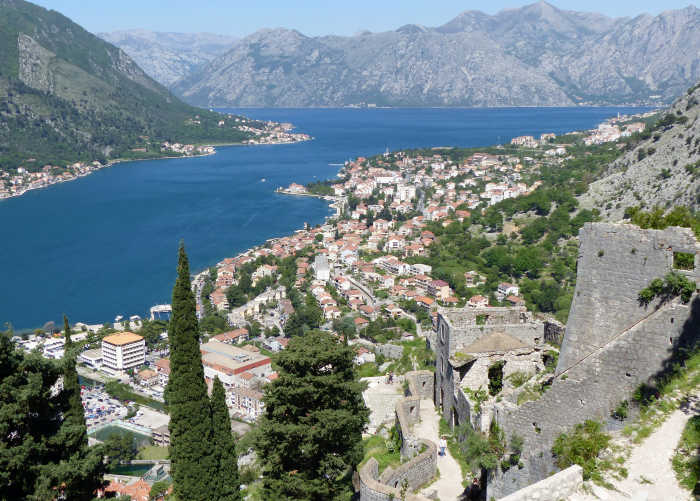 Birds eye view of Kotor