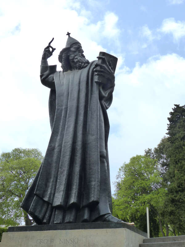 Statue of Croatian bishop Grgur Ninski