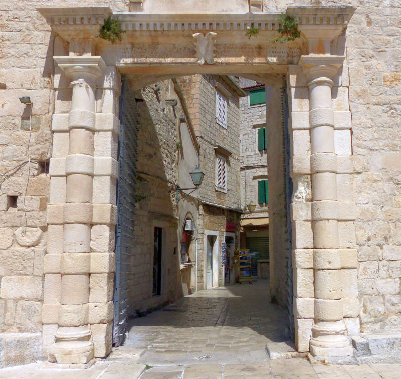 Porta Marina of Trogir, a World Heritage Site noted for its Venetian architecture.