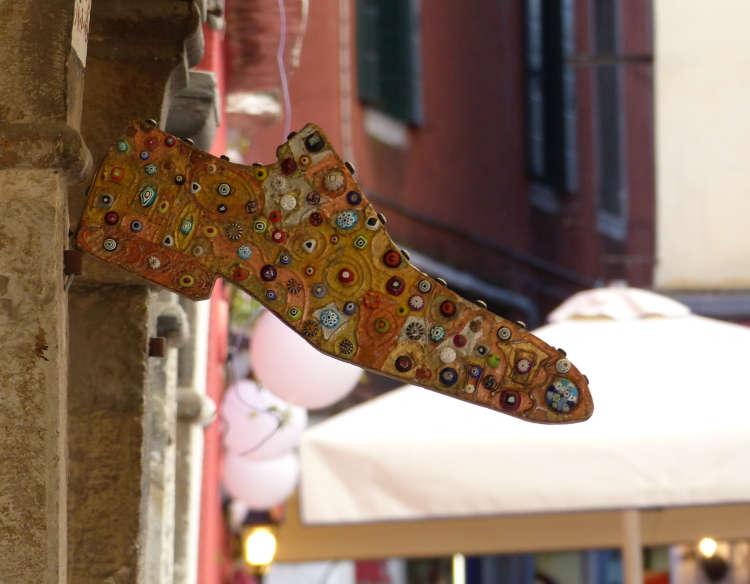 Fancy shoe signage.