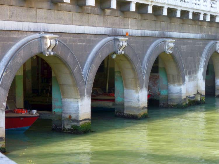 Boat slips for Venice fire brigade.