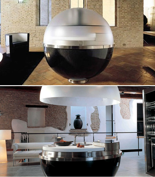 Spherical capsule kitchen