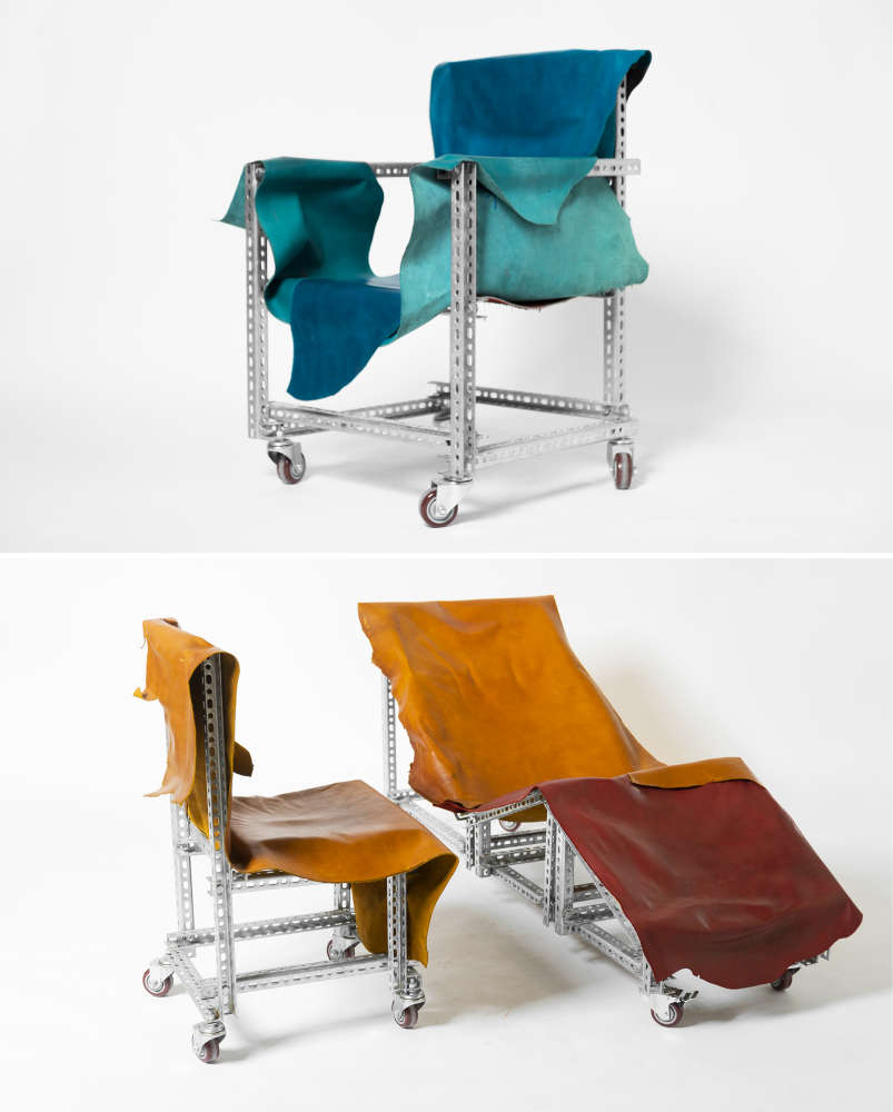 Seating made from slotted C-Channels