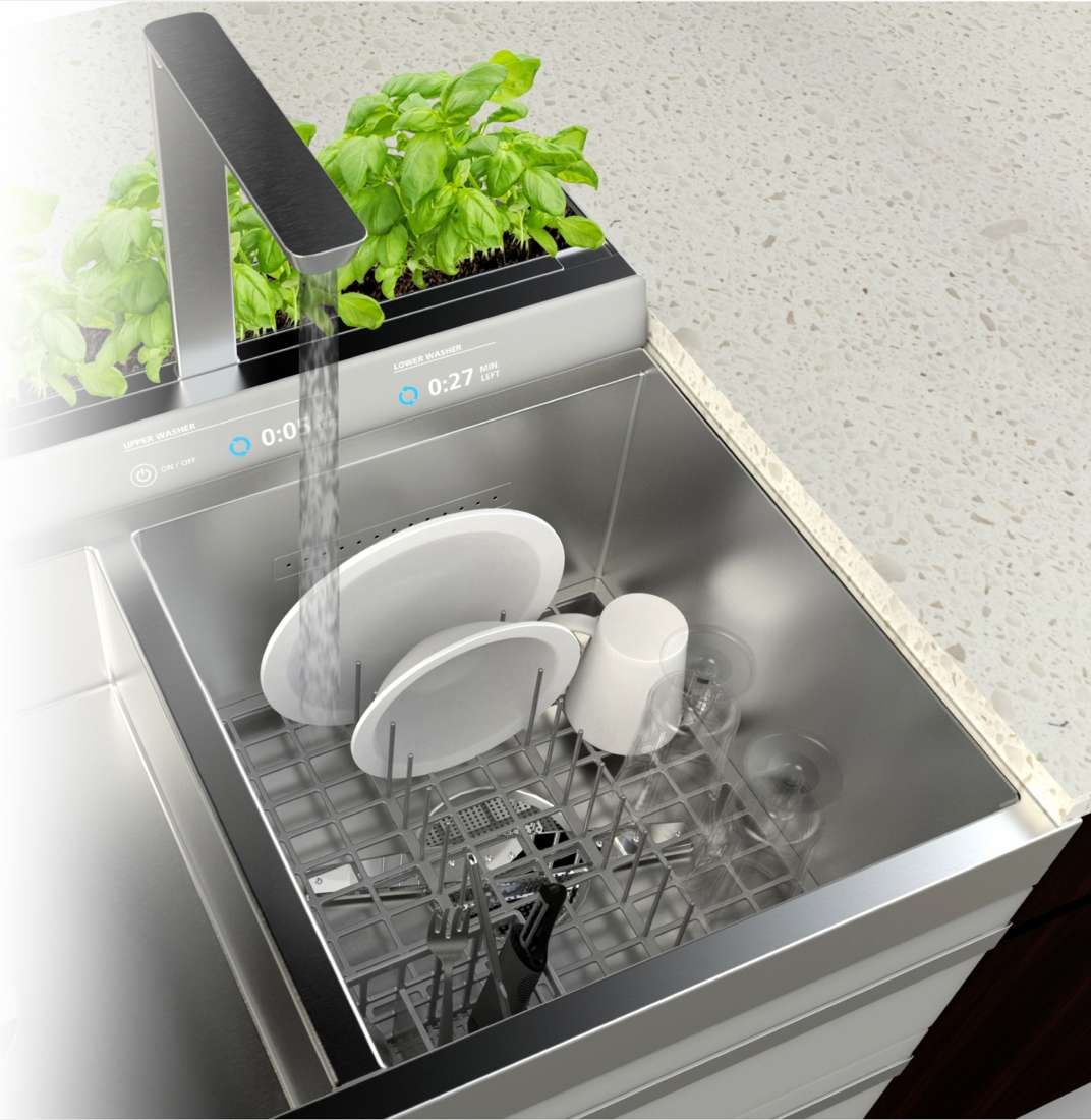 An in-sink dishwasher