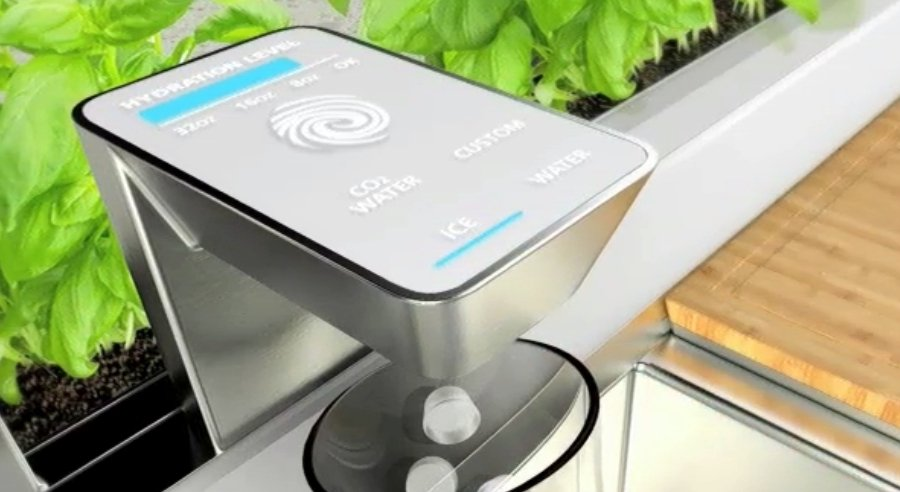 Smart faucet that monitors a user's hydration levels.