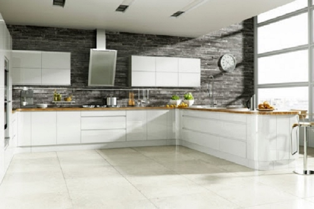 Miele kitchen with minimalist appliances and self-cleaning surfaces, 2063.