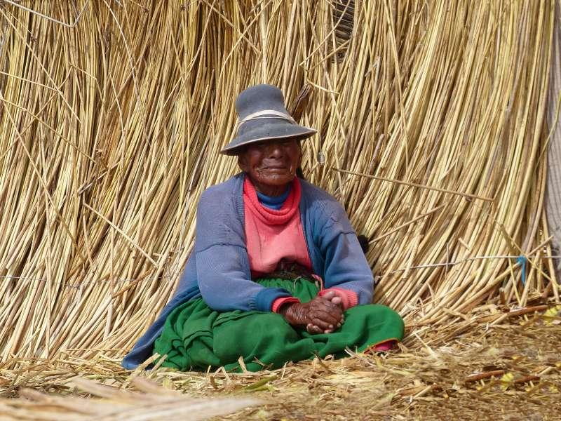 Puno Uros indigenous woman