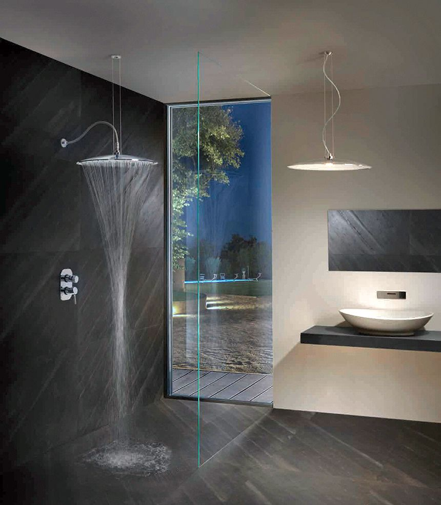 Design that can be a rain shower head or pendant light fixture