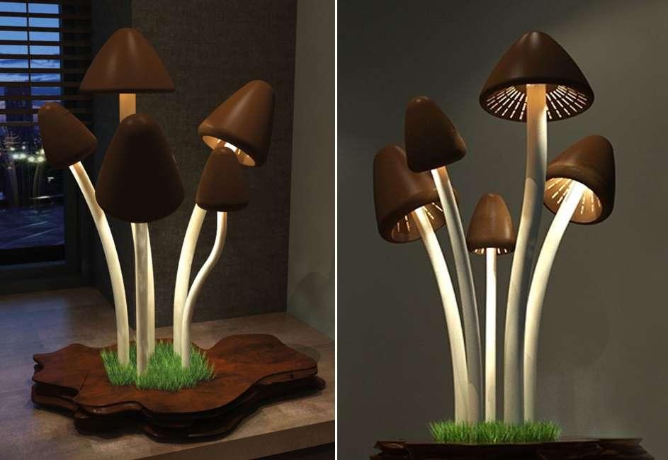Mushroom shaped free standing heater