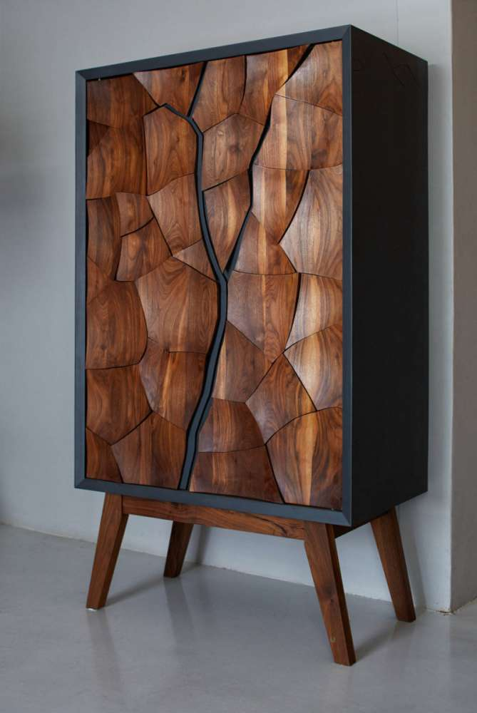 A drinks cabinet inspired by the mud flats of Namibia