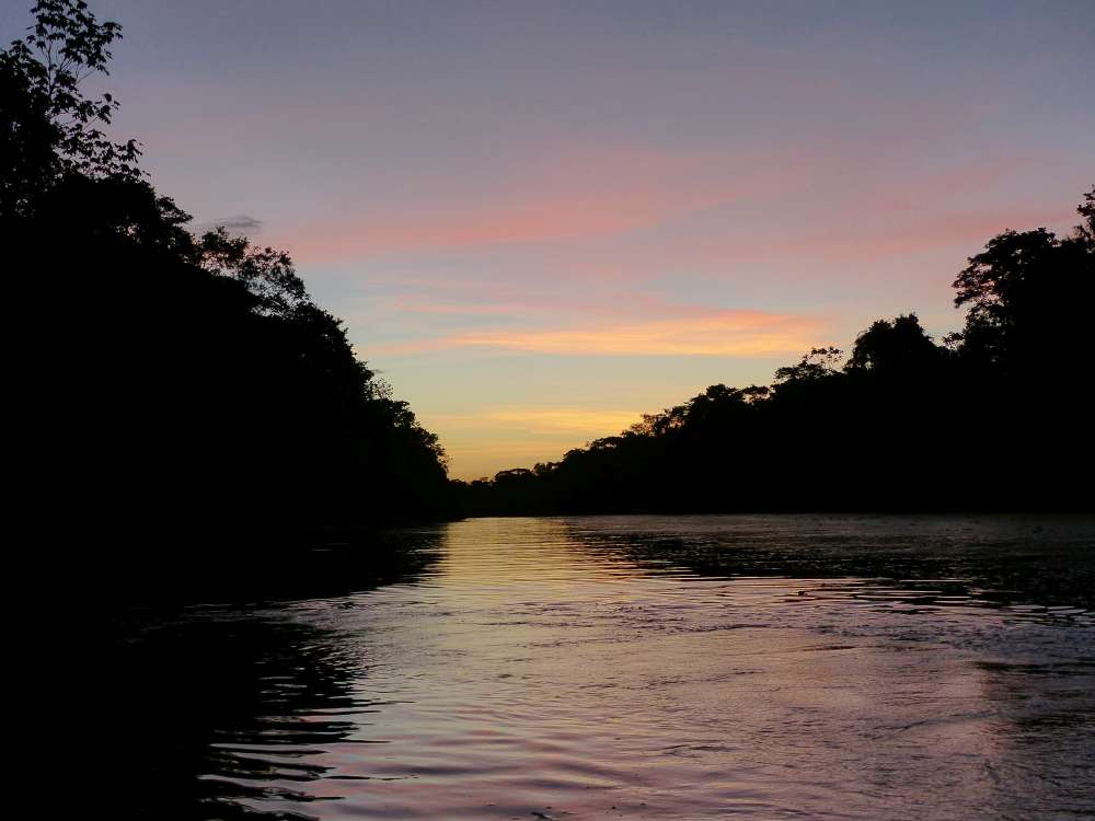 Sunset on the Ucayali River