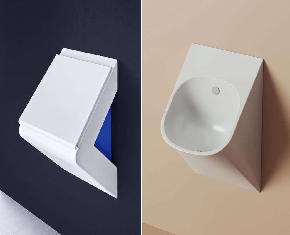 Original & updated versions of the urinals in La Fontana option