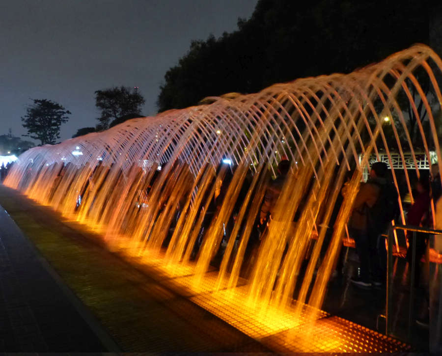 Archway of water jets