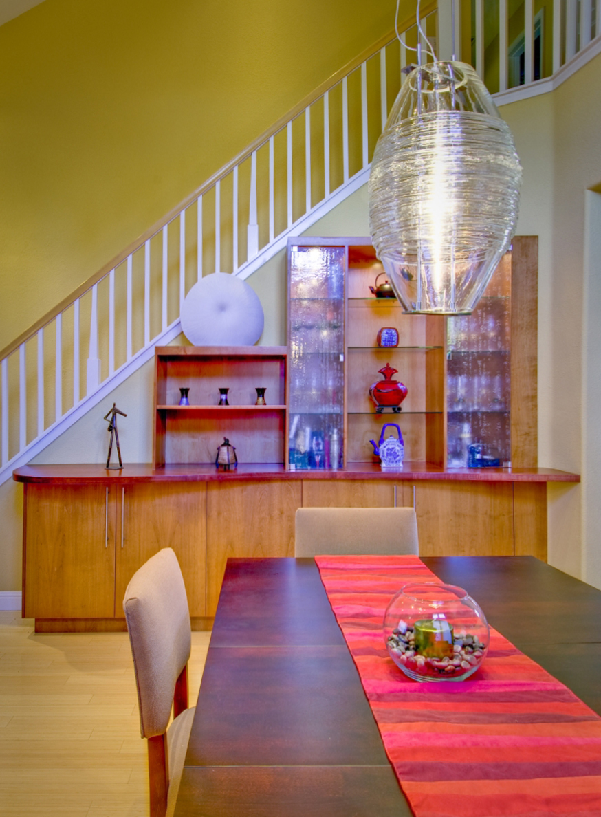 InterSpace Design - Cabinets designed for Display and Storage in Dining Room